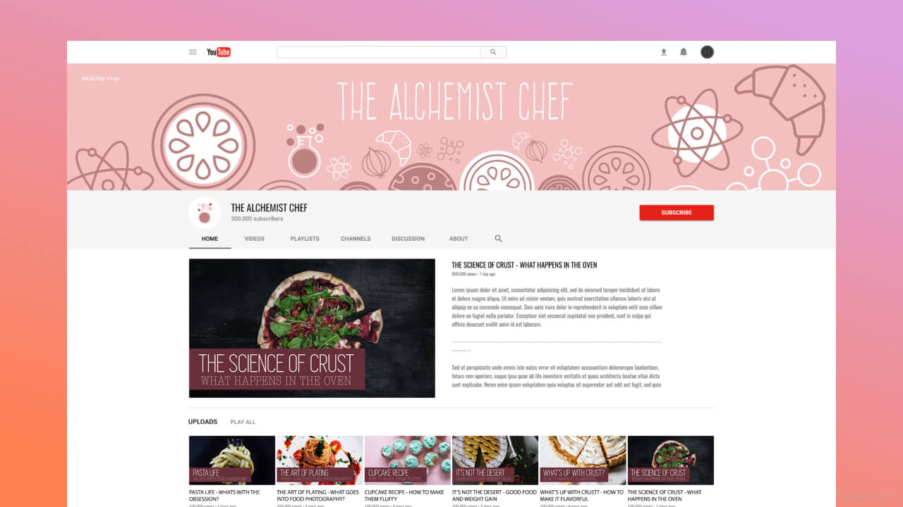 youtube channel art maker by befunky