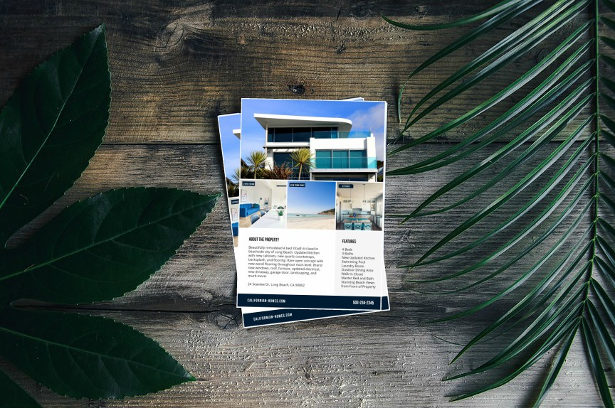 real estate flyer templates by Befunky