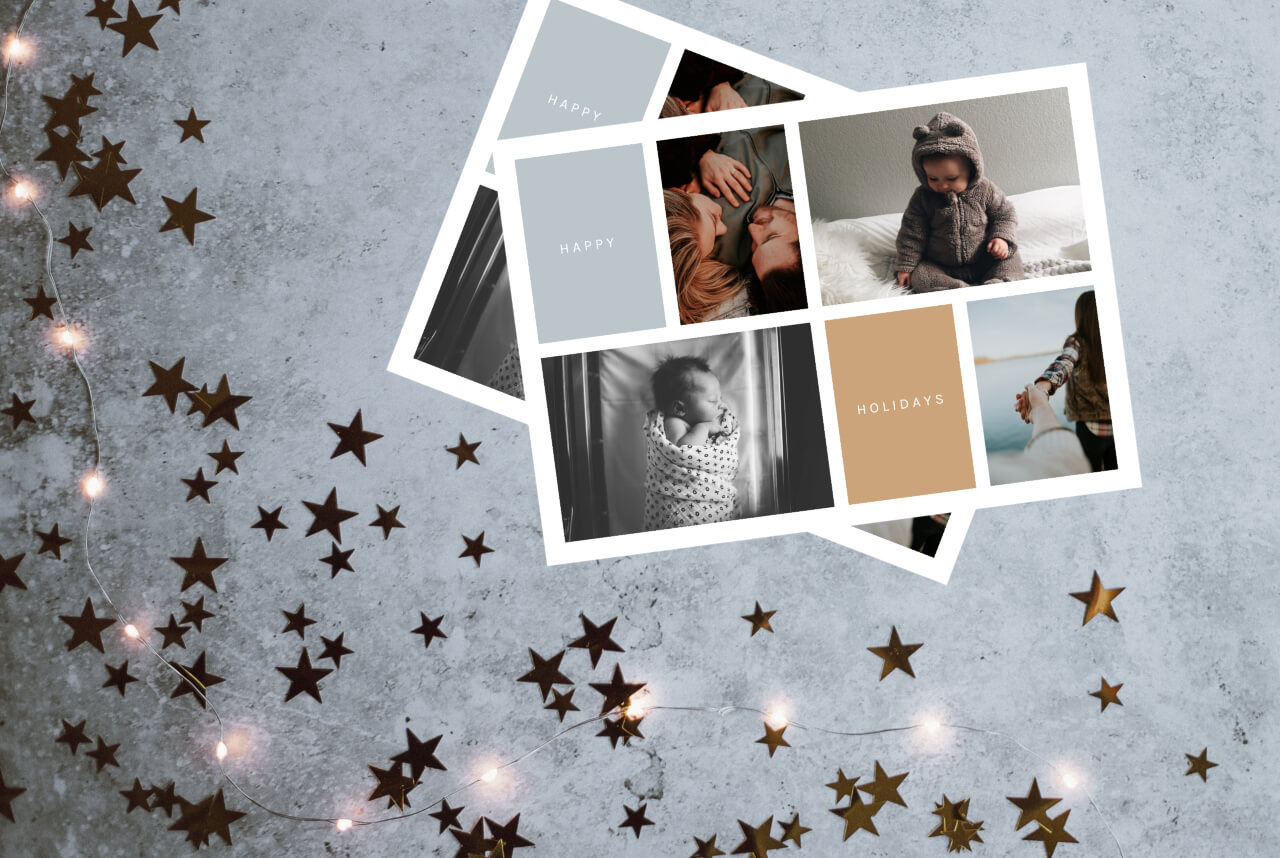 free holiday card templates online in BeFunky