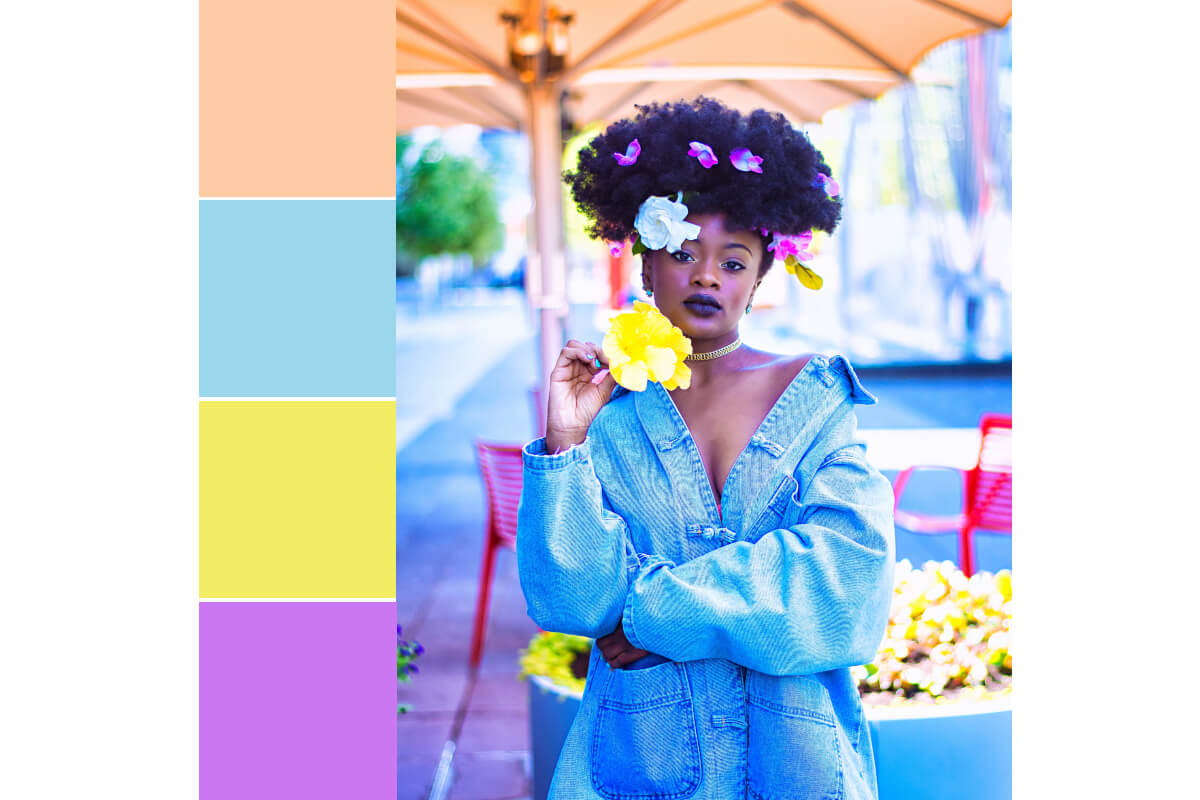 how to design a color palette in BeFunky