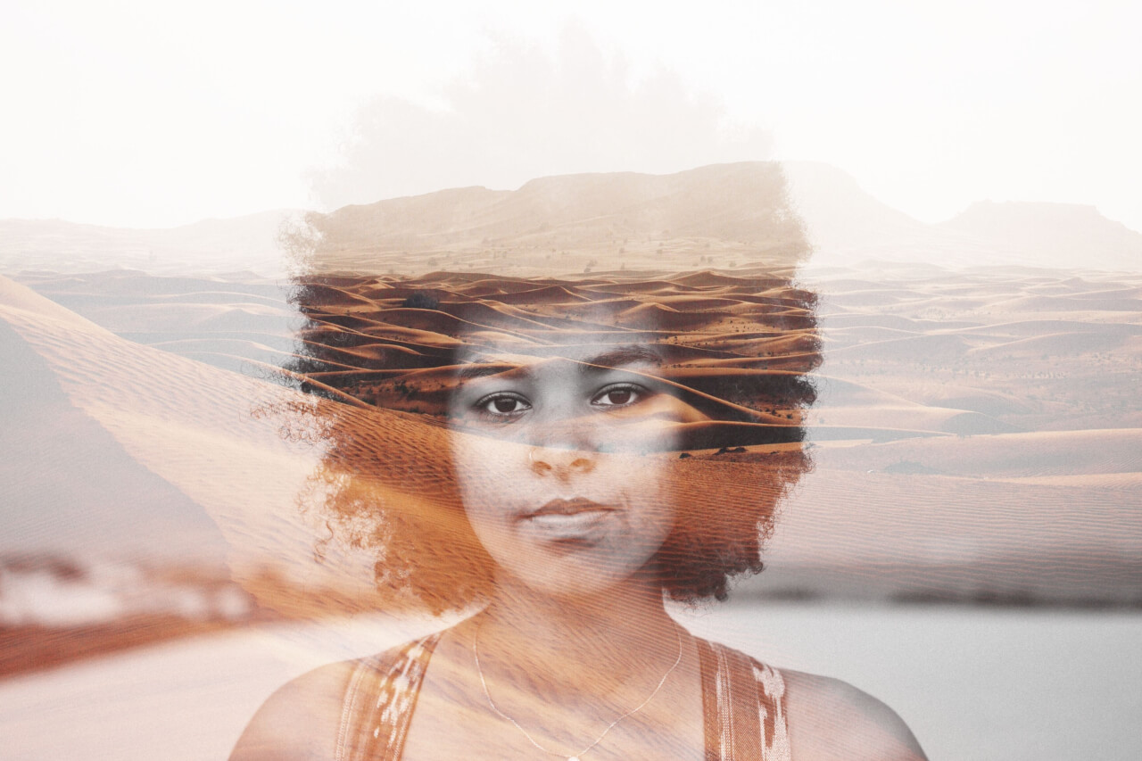 how to create double exposure photography in BeFunky