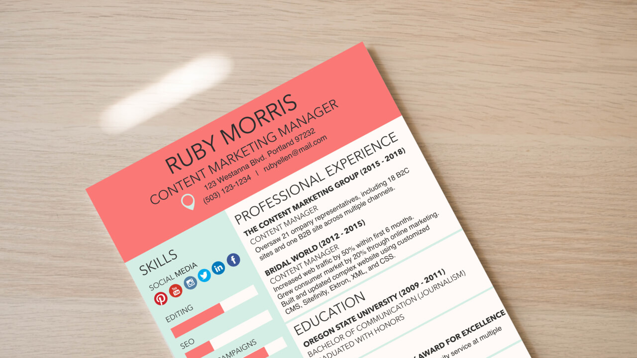 Design The Perfect Resume To Land Your Dream Job | Learn BeFunky