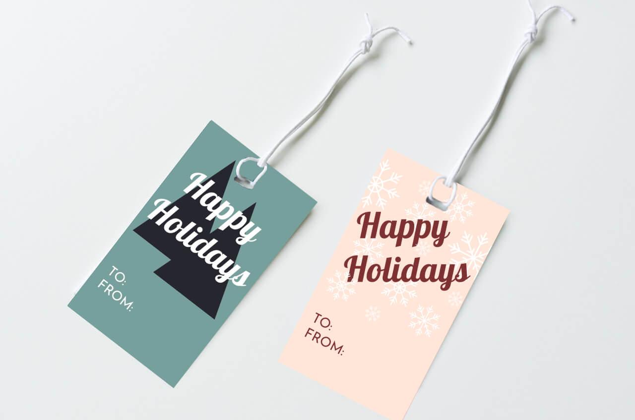 christmas gift tags tutorial