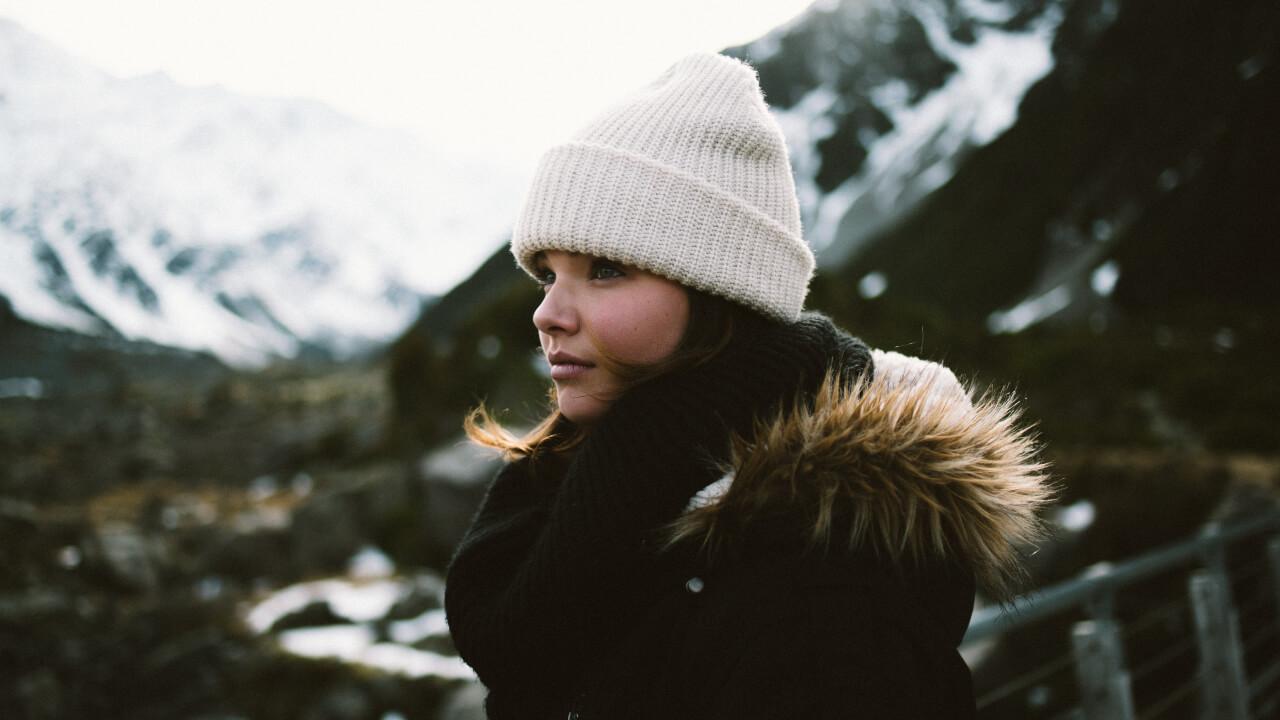 snow portrait photography before