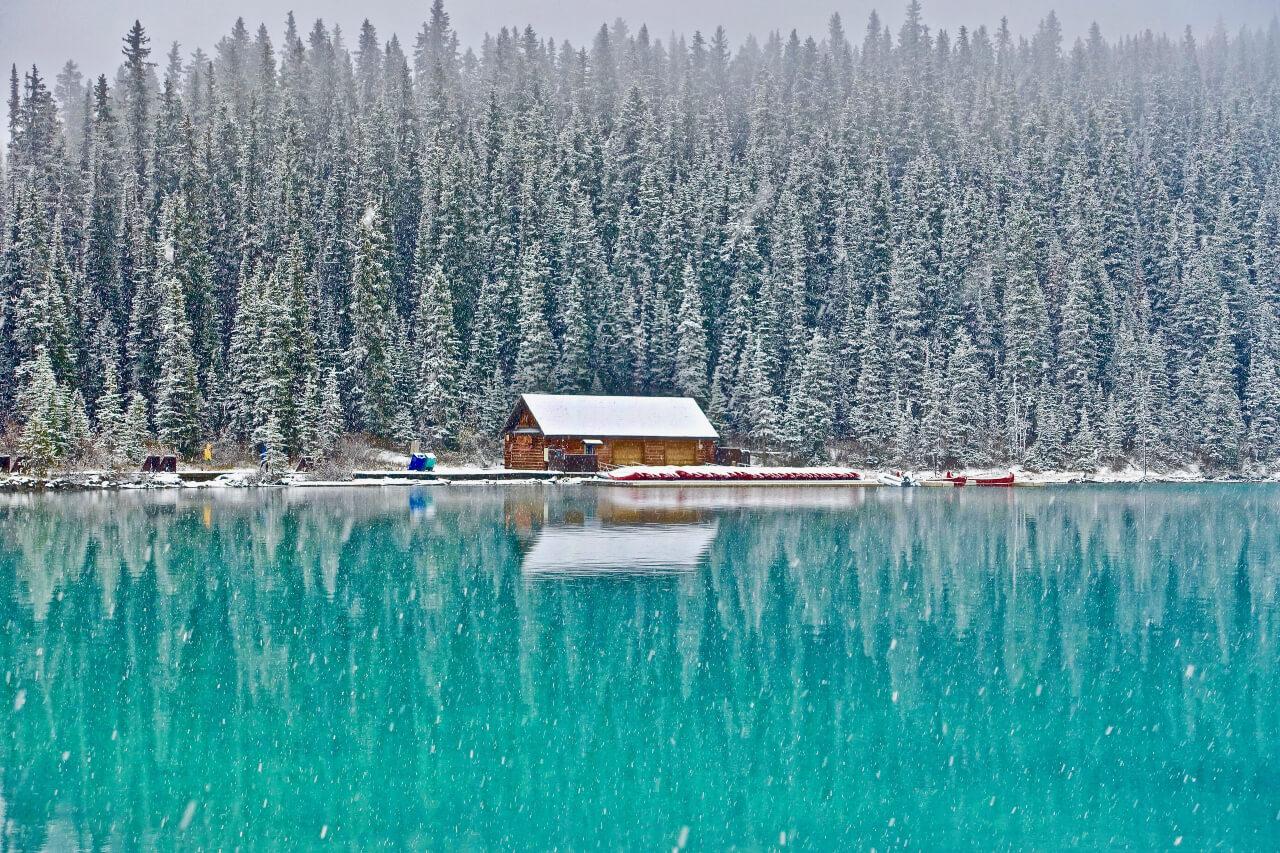 winter landscape before